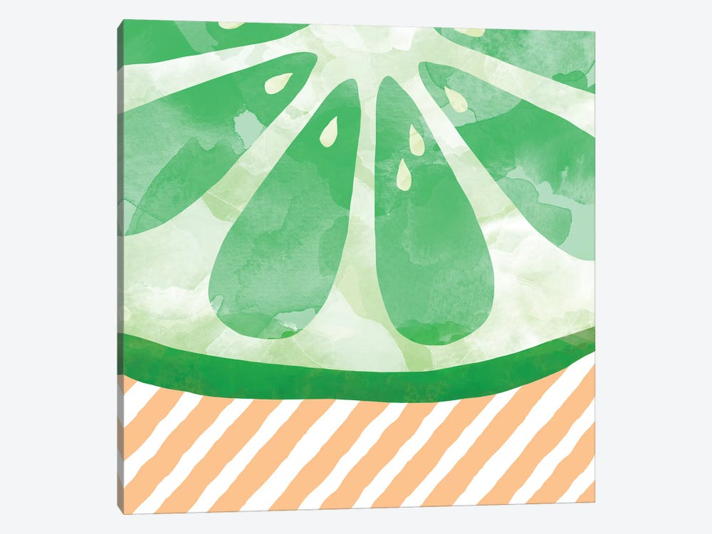 Lime Abstract by Orara Studio 1-piece Canvas Art Print