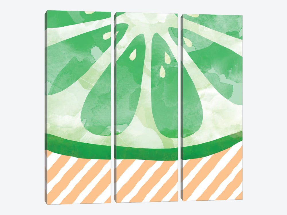 Lime Abstract by Orara Studio 3-piece Canvas Print