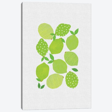 Lime Crowd Canvas Print #ORA132} by Orara Studio Art Print