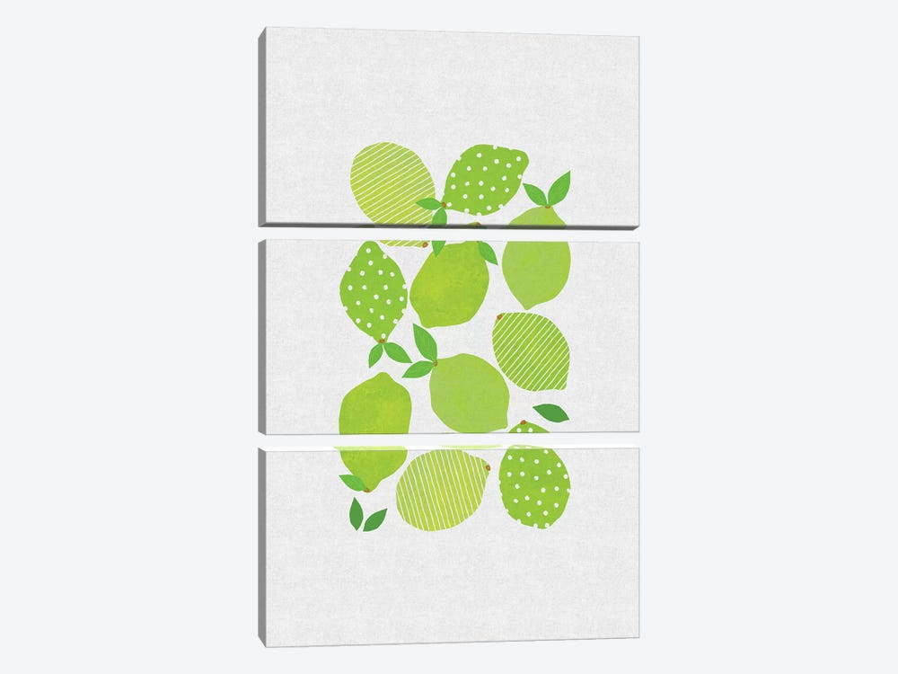 Lime Crowd by Orara Studio 3-piece Canvas Wall Art