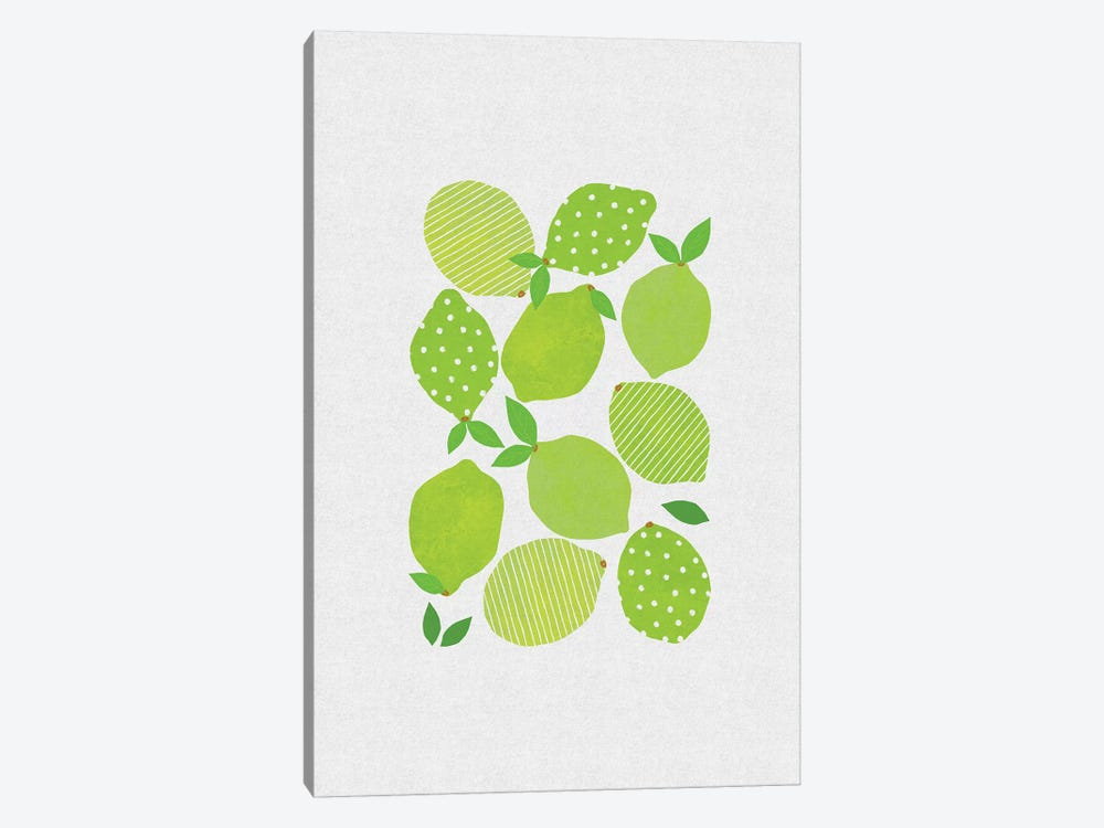 Lime Crowd by Orara Studio 1-piece Canvas Wall Art