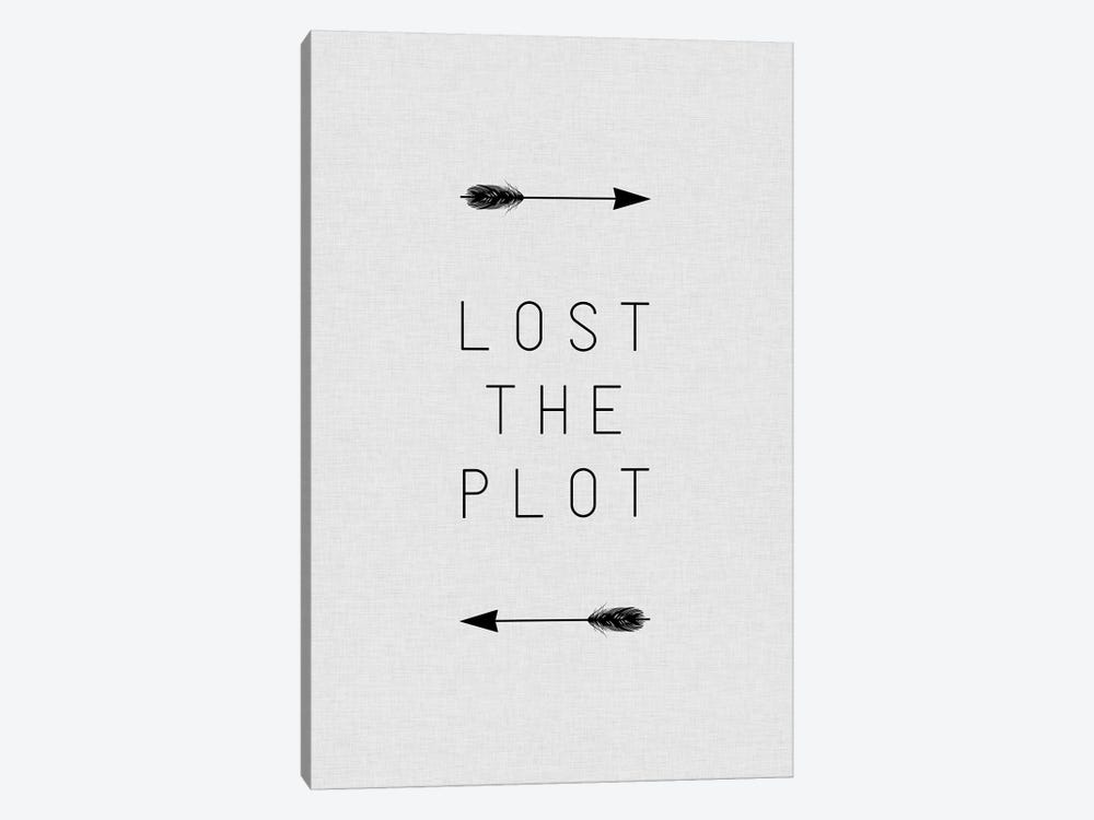 Lost The Plot Arrow 1-piece Canvas Art