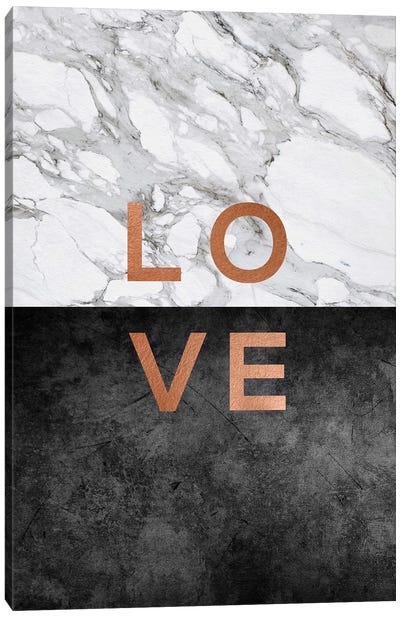 Love Copper Canvas Art Print