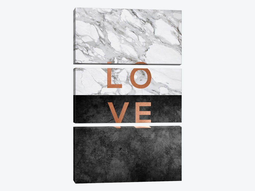 Love Copper by Orara Studio 3-piece Canvas Art Print