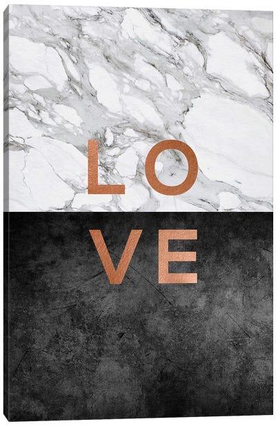 Love Copper Canvas Art Print