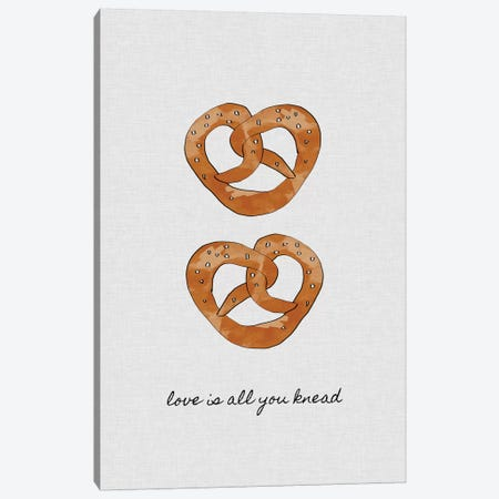 Love Is All You Knead Canvas Print #ORA138} by Orara Studio Art Print