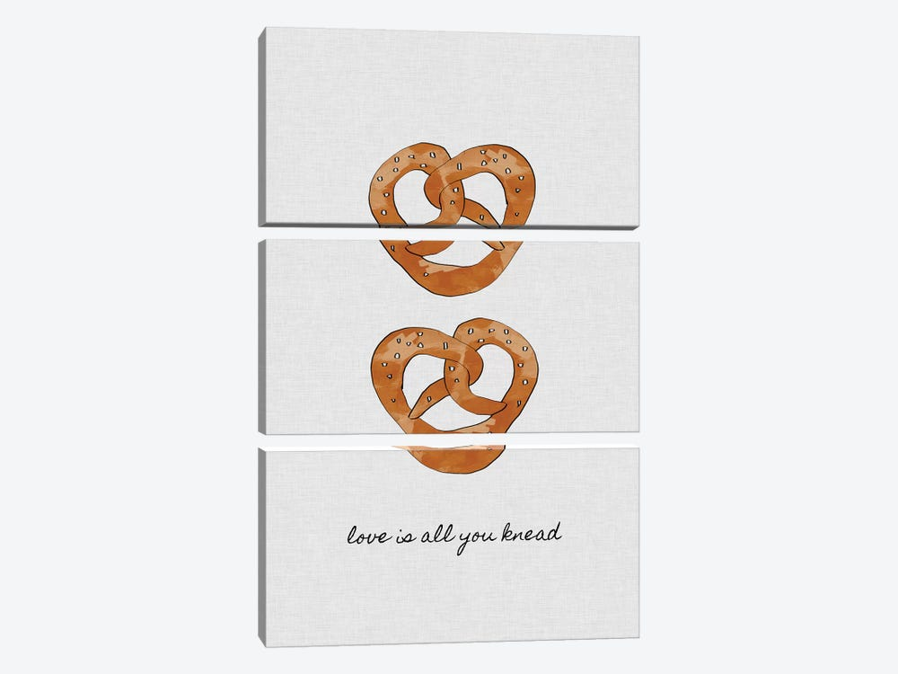 Love Is All You Knead by Orara Studio 3-piece Canvas Wall Art