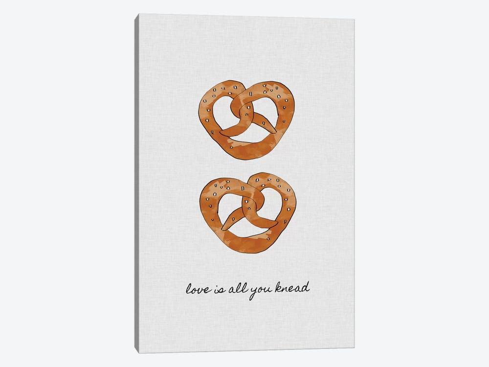 Love Is All You Knead by Orara Studio 1-piece Canvas Art