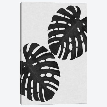 Monstera Leaf I B&W Canvas Print #ORA155} by Orara Studio Canvas Wall Art