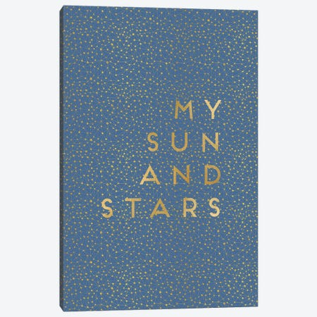 My Sun & Stars Canvas Print #ORA163} by Orara Studio Canvas Wall Art