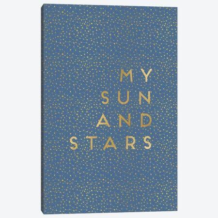 My Sun & Stars Canvas Print #ORA163} by Orara Studio Canvas Wall Art