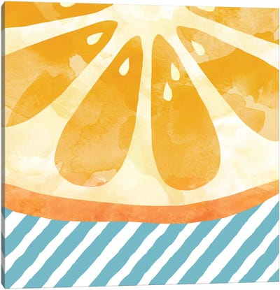 Orange Abstract Canvas Art Print