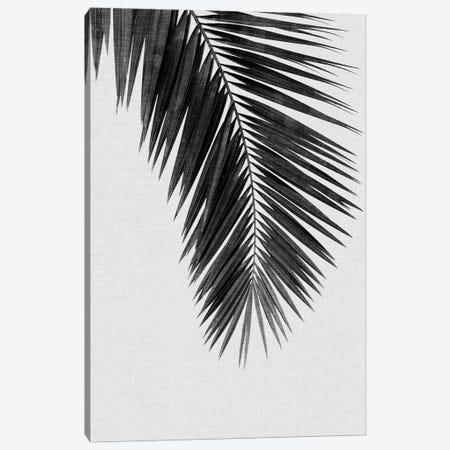 Palm Leaf I B&W Canvas Print #ORA171} by Orara Studio Canvas Art Print