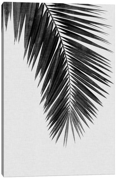 Palm Leaf I B&W Canvas Art Print