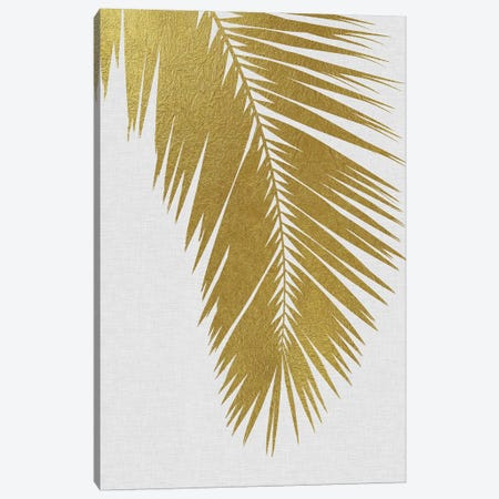 Palm Leaf I Gold Canvas Print #ORA172} by Orara Studio Canvas Print