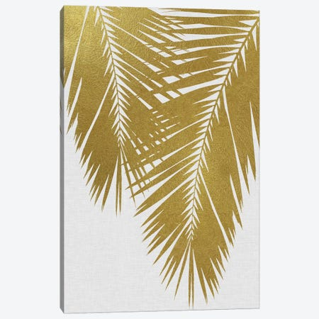 Palm Leaf II Gold Canvas Print #ORA175} by Orara Studio Canvas Art