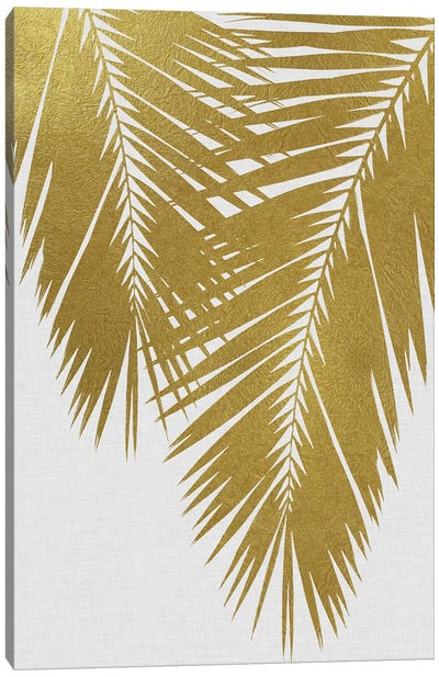 Palm Leaf II Gold Canvas Art Print