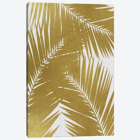 Palm Leaf III Gold Canvas Print #ORA178} by Orara Studio Canvas Art Print
