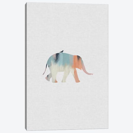 Pastel Elephant Canvas Print #ORA180} by Orara Studio Canvas Art