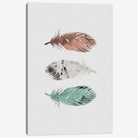 Pastel Feathers Canvas Print #ORA181} by Orara Studio Canvas Art