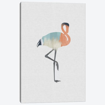 Pastel Flamingo Canvas Print #ORA182} by Orara Studio Canvas Wall Art