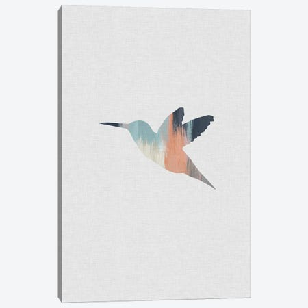 Pastel Hummingbird Canvas Print #ORA183} by Orara Studio Canvas Wall Art