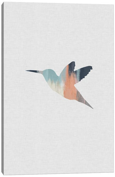 Pastel Hummingbird Canvas Art Print