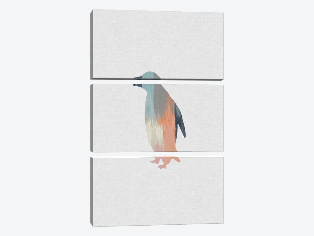 Pastel Penguin 3-piece Canvas Print