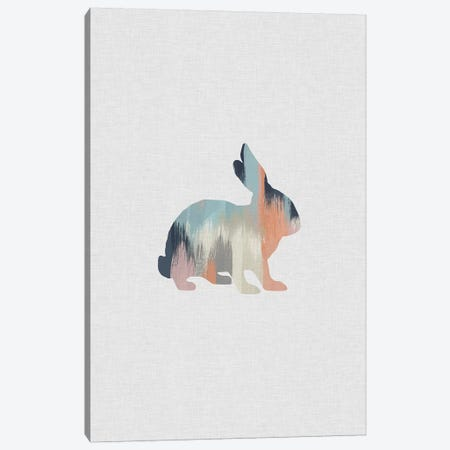 Pastel Rabbit Canvas Print #ORA185} by Orara Studio Canvas Print