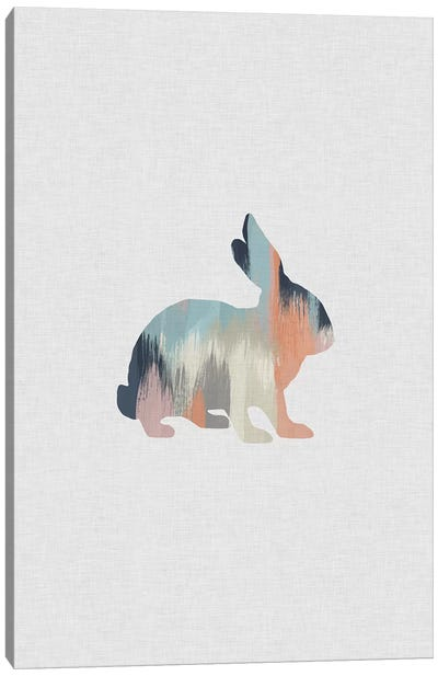 Pastel Rabbit Canvas Art Print