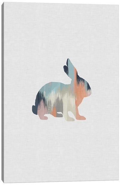 Pastel Rabbit Canvas Art Print