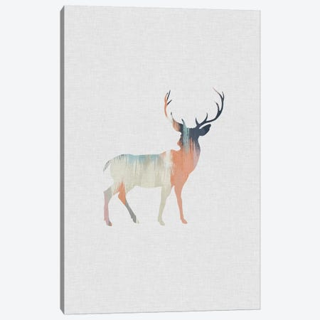 Pastel Reindeer Canvas Print #ORA186} by Orara Studio Canvas Print