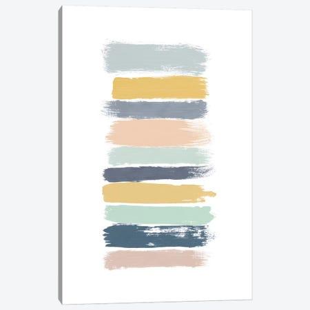 Pastel Stripes Canvas Print #ORA187} by Orara Studio Art Print