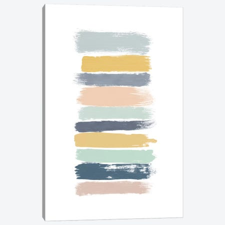 Pastel Stripes Canvas Print #ORA187} by Orara Studio Art Print