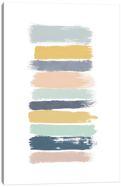Pastel Stripes Canvas Art Print