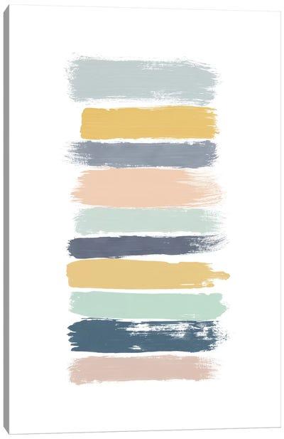 Pastel Stripes Canvas Art Print