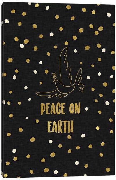 Peace On Earth Gold Canvas Art Print