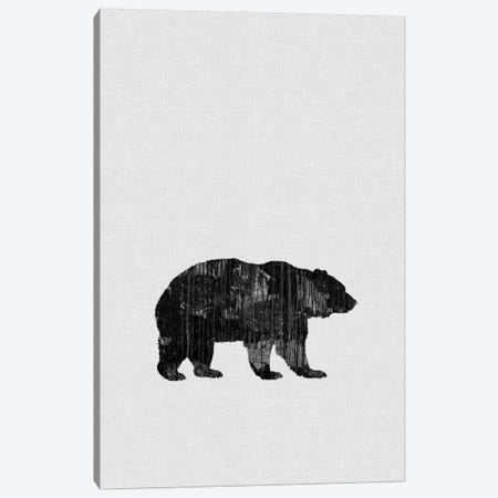 Bear B&W Canvas Print #ORA18} by Orara Studio Canvas Wall Art