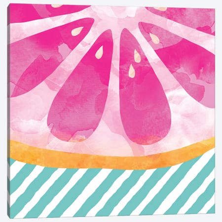 Pink Grapefruit Abstract Canvas Print #ORA193} by Orara Studio Art Print