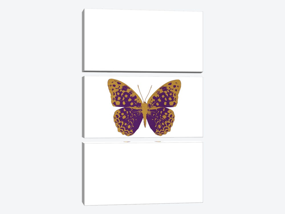 Purple Butterfly by Orara Studio 3-piece Canvas Artwork