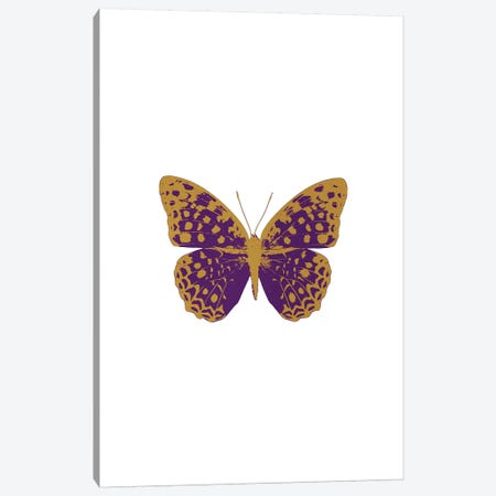 Purple Butterfly Canvas Print #ORA194} by Orara Studio Canvas Artwork