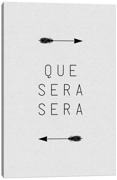 Que Sera Sera Arrow Canvas Art Print