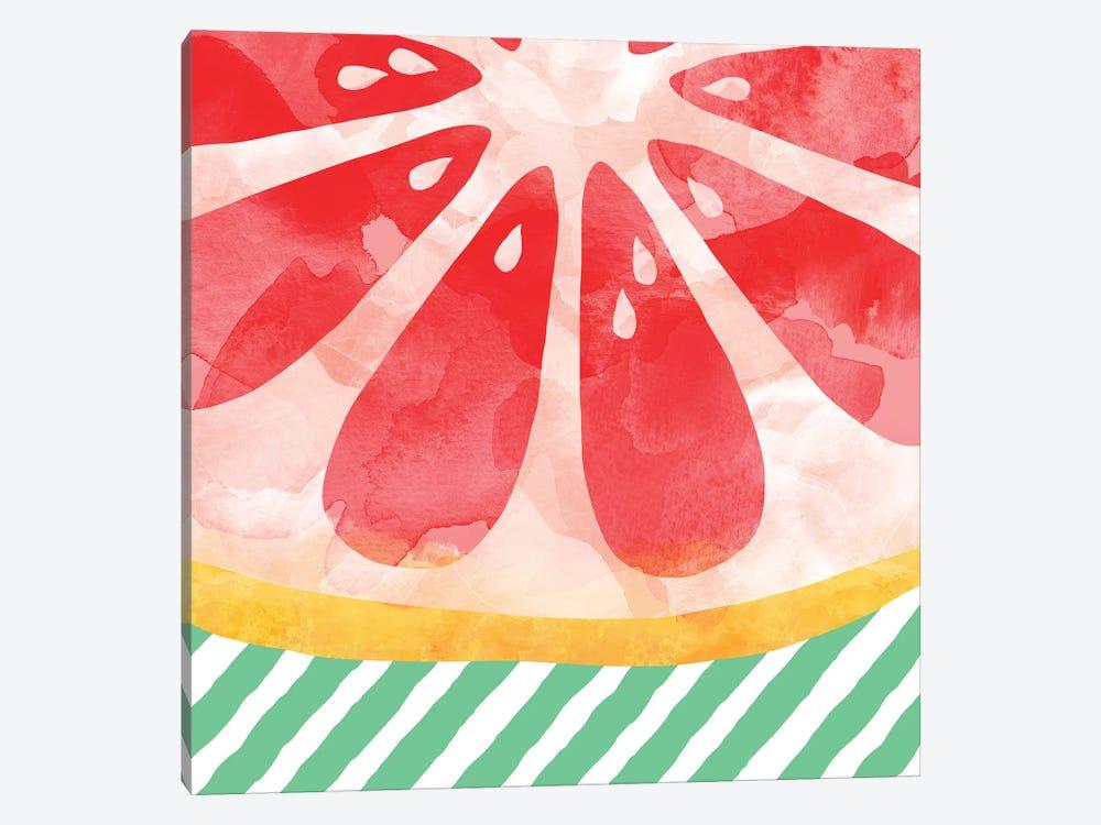 Red Grapefruit Abstract by Orara Studio 1-piece Canvas Art