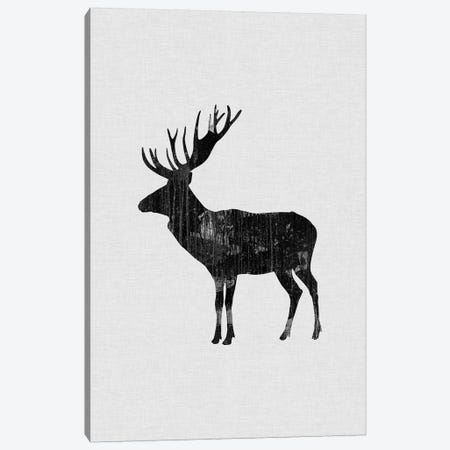 Reindeer B&W Canvas Print #ORA199} by Orara Studio Canvas Print