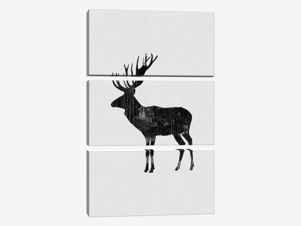 Reindeer B&W by Orara Studio 3-piece Art Print