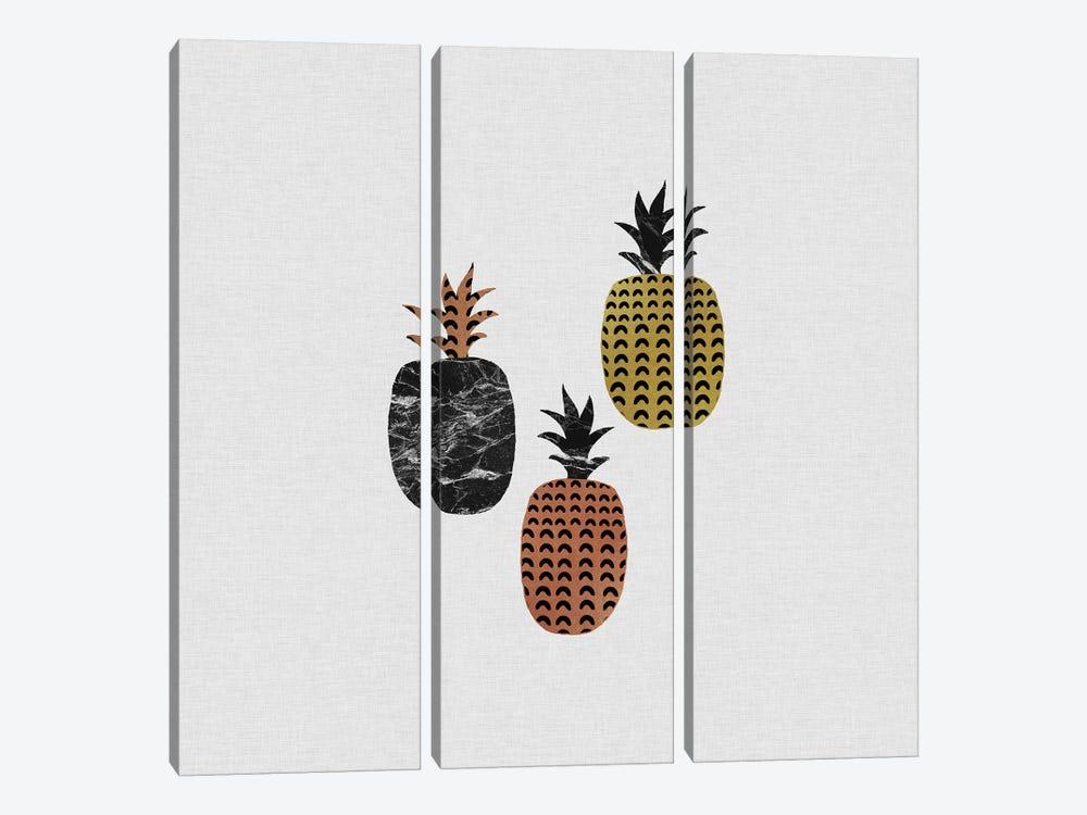 Scandi Pineapples by Orara Studio 3-piece Canvas Art Print