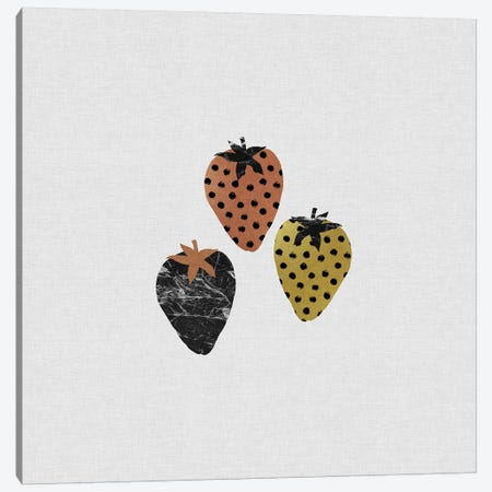 Scandi Strawberries Canvas Print #ORA205} by Orara Studio Canvas Wall Art