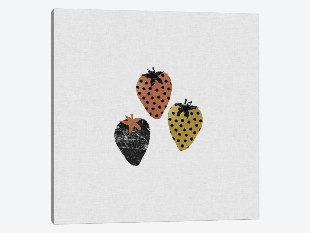 Scandi Strawberries by Orara Studio 1-piece Canvas Wall Art