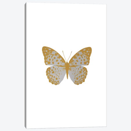 Silver Butterfly Canvas Print #ORA207} by Orara Studio Canvas Artwork