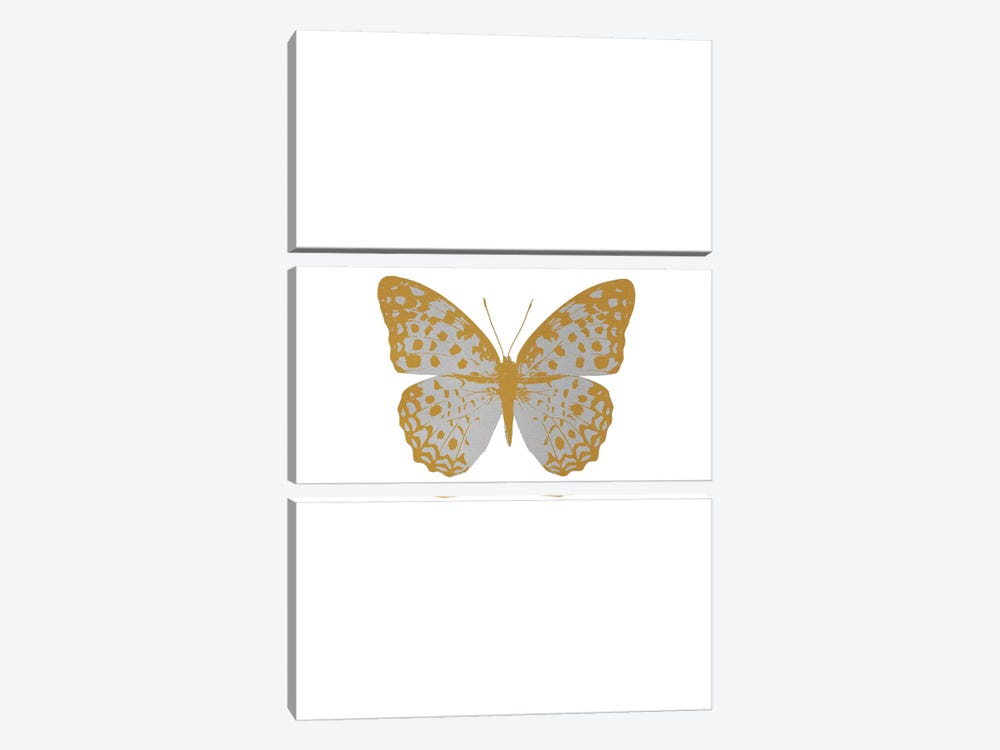 Silver Butterfly 3-piece Canvas Wall Art